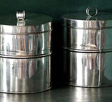 Shiny Old Tin Cans by Vy Solomatenko