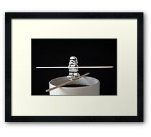 Stormtrooper Training Framed Print
