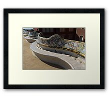 Gaudi's Park Guell Sinuous Curves  Framed Print