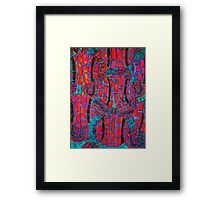 Wild, colorful, abstract, Tennis Art Framed Print