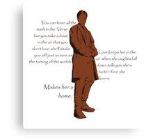 Firefly - Captain Mal Reynolds on Love Canvas Print
