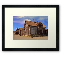 Abandoned building from the California Gold Rush Framed Print