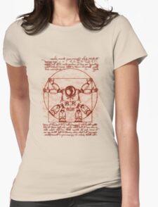 Vitruvian ribbon Womens Fitted T-Shirt