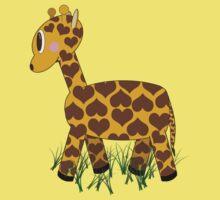 Giraffe in Grass Kids Tee