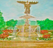 Bethesda Fountain Central Park by Felix  Zapata