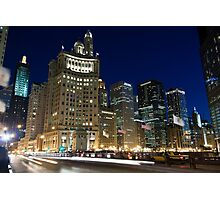 Across The Michigan Ave Bridge Photographic Print