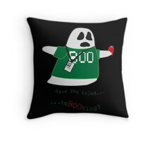 Stanley the Computer Programming Ghost Throw Pillow