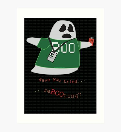 Stanley the Computer Programming Ghost Art Print