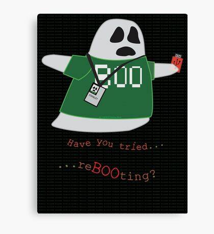 Stanley the Computer Programming Ghost Canvas Print