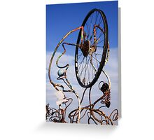 Bicycle wheel sculpture Greeting Card
