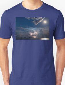 Lake Lightning Thunderstorm and Full Moon T-Shirt