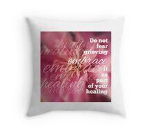 Embrace Grieving Throw Pillow