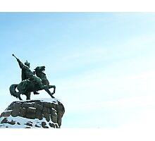 Kiev - Bogdan Khmelnitskiy - Sky Warrior Photographic Print