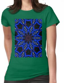 Electric Blue Womens Fitted T-Shirt