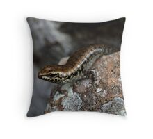 Eulamprus brachysoma  Throw Pillow