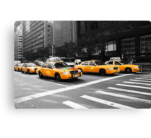 New York Yellow Cabs Canvas Print