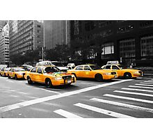 New York Yellow Cabs Photographic Print