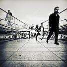 Walking Millenium Bridge by Frank Waechter