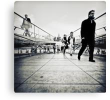 Walking Millenium Bridge Canvas Print