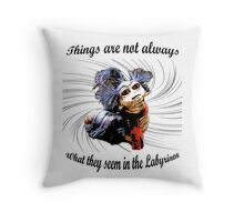 Labyrinth worm  Throw Pillow