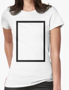 THE 1975 - BLACK RECTANGLE Womens Fitted T-Shirt
