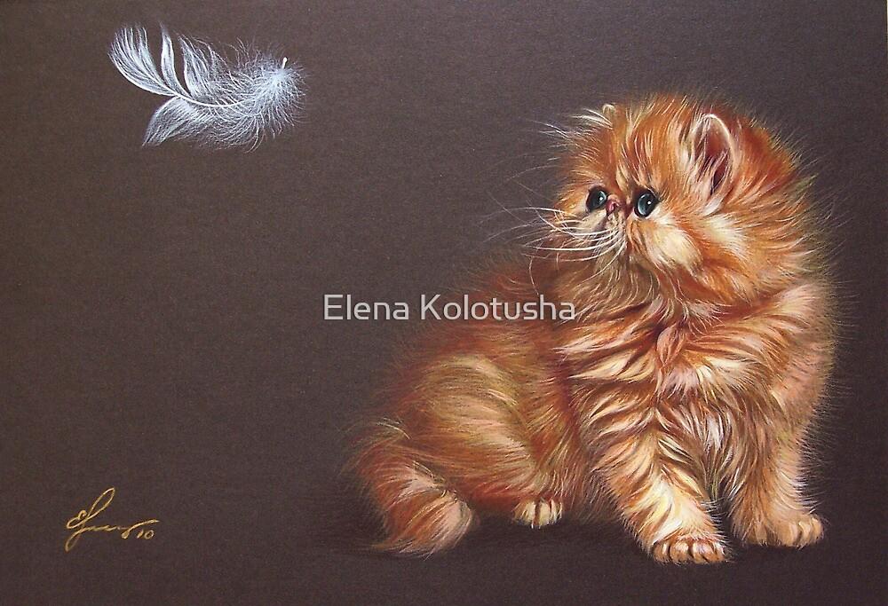 """""""The bird lover"""" by Elena Kolotusha"""