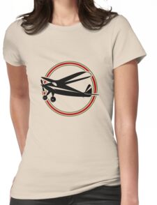 Vintage airplane Womens Fitted T-Shirt