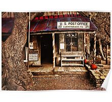 Luckenbach Post Office Poster