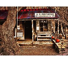 Luckenbach Post Office Photographic Print