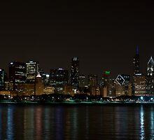 Chicago Skyline with Trump Tower by eegibson