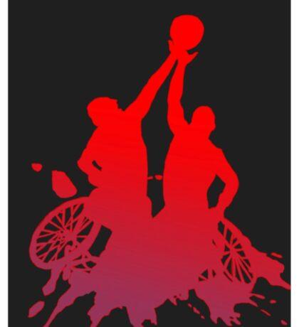 Wheelchair Basketball Ink Splat Sticker