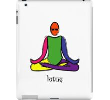 Painting of lotus yoga pose with Sanskrit text. iPad Case/Skin