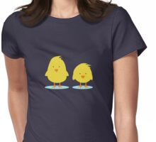couple of chickens Womens Fitted T-Shirt