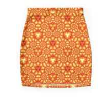 Orange Lights Pencil Skirt