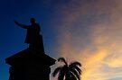 Silhouette of Jose Marti, Cienfuegos, Cuba by David Carton