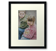 """Little Moments"" Colored Pencil Portrait Framed Print"