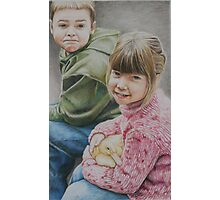 """Little Moments"" Colored Pencil Portrait Photographic Print"