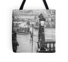 Snowfall in Edinburgh Tote Bag