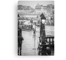 Snowfall in Edinburgh Canvas Print