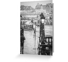 Snowfall in Edinburgh Greeting Card
