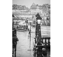 Snowfall in Edinburgh Photographic Print