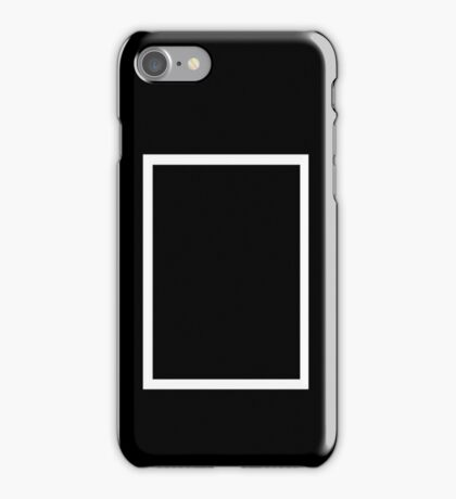 THE 1975 - WHITE RECTANGLE iPhone Case/Skin