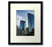 Blue Skyscrapers Framed Print