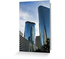 Blue Skyscrapers Greeting Card
