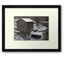 Winter at the Mill Framed Print