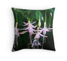 Fuchsia Droplets Throw Pillow