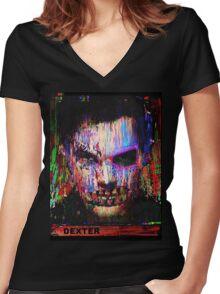 Dexter Morgan.The Quiet Ones. Women's Fitted V-Neck T-Shirt