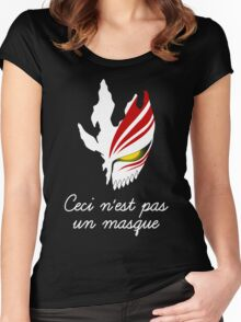 Ceci n'est pas un masque Women's Fitted Scoop T-Shirt