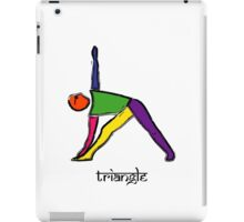 Painting of triangle yoga pose with Sanskrit text. iPad Case/Skin