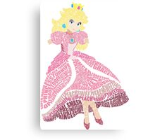 Peachy Princess Canvas Print